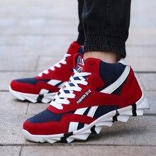 2018 осенние и зимние новые мужские кроссовки мужские обувь для бега, кроссовки на шнуровке уличная спортивная обувь удобная