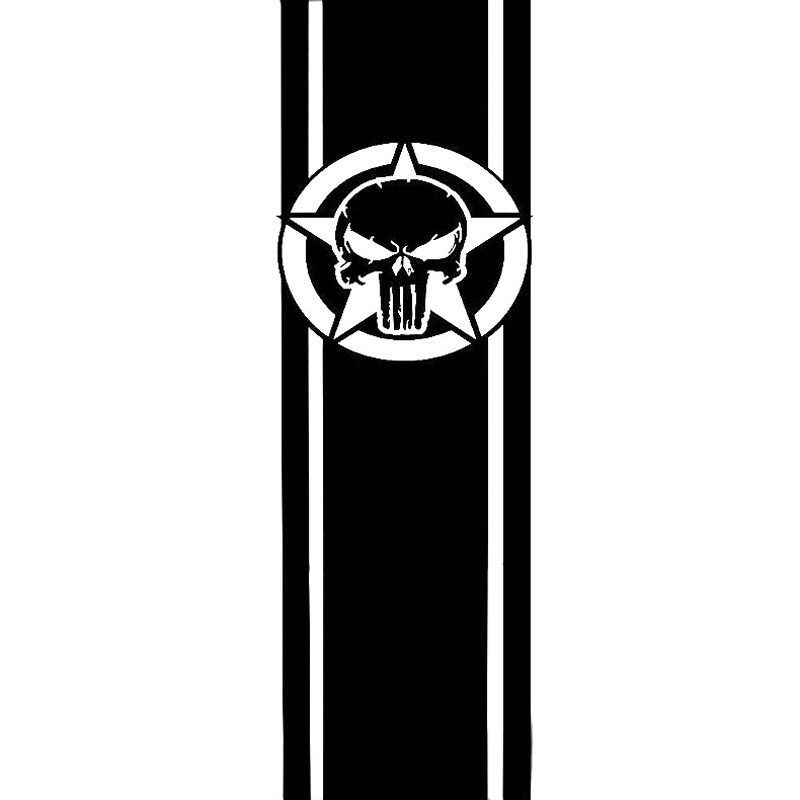 Cmcm STAR STRIPES AND SKULL Fashion Vinyl Decal Motorcycle - Vinyl stripes for motorcycles