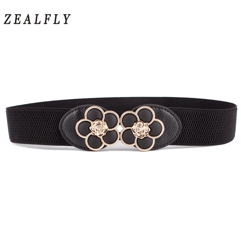 Cummerbunds Pure Leather Belt Woman Charm Elastic Belts Women Vintage Waistb Belts Waist Accessories
