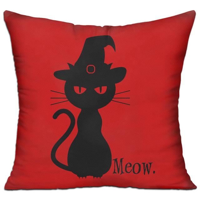 Black Cat Halloween Hold pillow large standard pillow case 100 ...