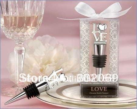 LOVE style wine stopper ,Wedding gifts BO-002