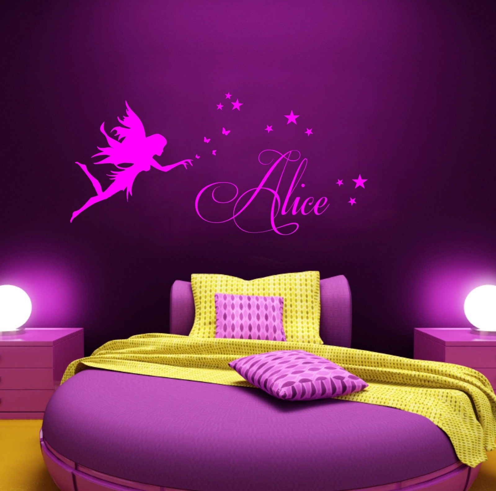 Fairy Wall Art aliexpress : buy removable personalized name stencil wall art