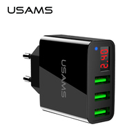 USAMS Wall Phone Charger 3 Port USB The Max 2 4A Out Put Charge Smart Fast