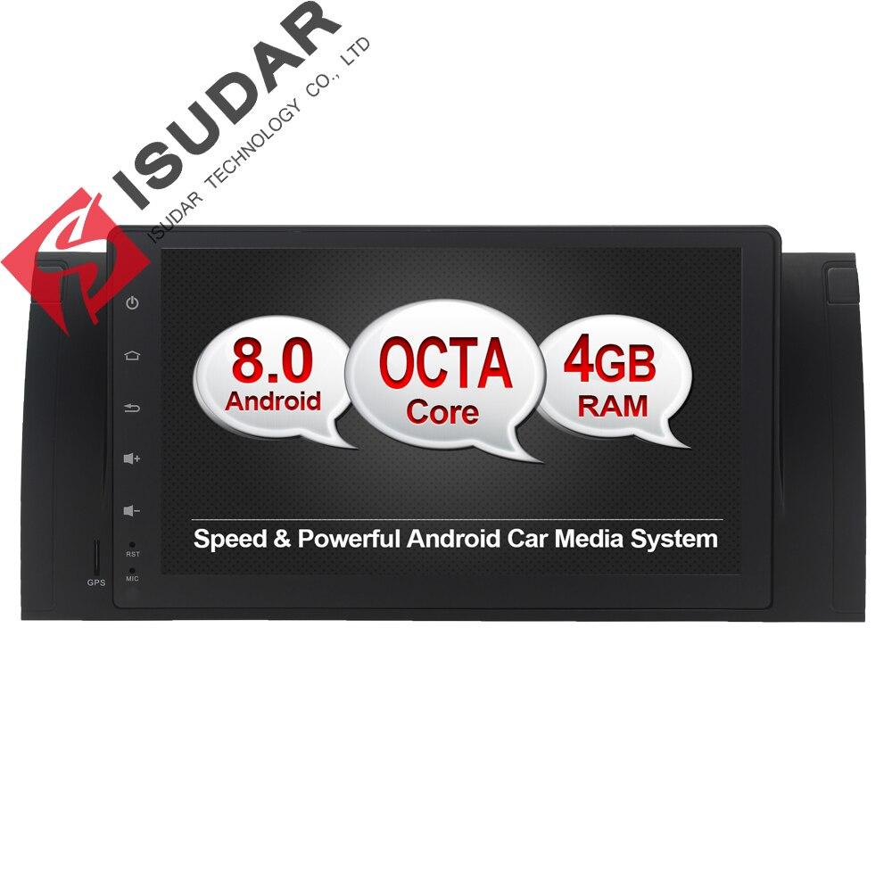 Isudar Car Multimedia Player Car Radio GPS Android 8.0 fm For BMW/E39/E53/X5/M5 Canbus 32G ROM Bluetooth Car DVD Player wifi