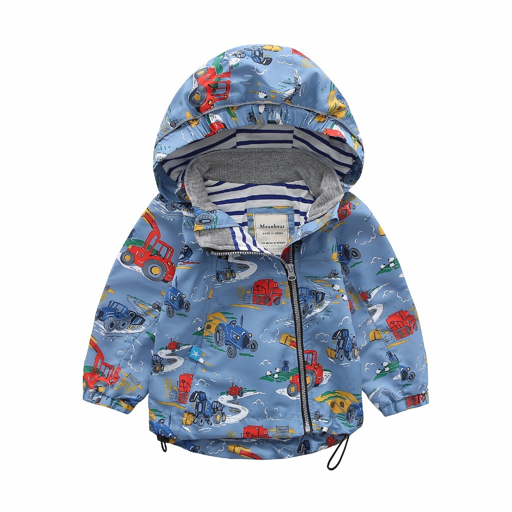 M78 Spring Autumn Fashion Boys Coat Hoodie Child Jacket Girls Tops Windbreaker Cartoon Printing Thin Coat Child Thin Jacket smdppwdbb women dress v neck elegant office vestido maternity dresses knee length pregnancy clothes autumn women sexy dress