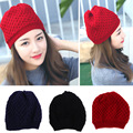adult winter hat fashion all-match warmproof knitted sleeve head hat