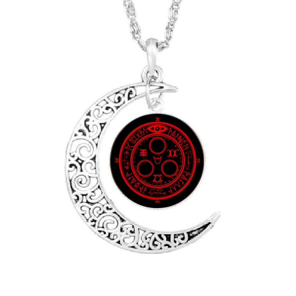 USA Movie silent hill halo of the sun Pendant Steampunk Necklace glass 1pcs/lot Glass mens handmade jewelry Choker chain Game image