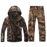 Men Army Waterproof Warm Camo Clothes Windbreaker Fleece Coat Military Jacket Armband Tactical Gear Softshell Camouflage Jacket