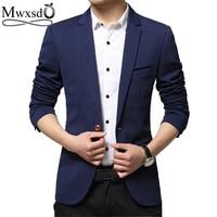 Mwxsd brand Men's casual slim fit single button t suit Blazer jacket men wedding blazer male suit hombre blazer 3xl 4xl