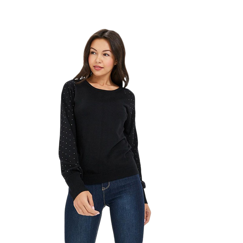 Sweaters MODIS M182W00349 jumper sweater clothes apparel pullover for female for woman TmallFS bear patched plus size pullover sweater