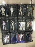 Star Wars Schwarze Serie 6 Aktion Anime Figuren Darth Vader Kylo Ren Stormtrooper Boba fett 6 zoll Figuras Film Kinder Spielzeug