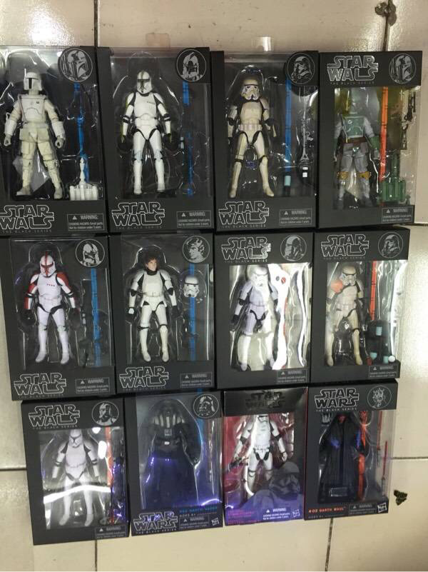Star Wars Black Series 6 Action Anime Figures Darth Vader Kylo Ren Stormtrooper Boba Fett 6 Inch Figuras Movie Kid Children Toy