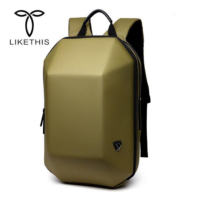 Mochila antirrobo de concha dura impermeable para hombre, bolso de viaje, portátil informal, creativo, Alien negro, escolar, para adolescentes