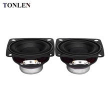2pcs Full Range 2 inch speaker 15W DIY Soundbar Boombox Unit Portable Radio 10W 20w 4 ohm speaker HIFI Bluetooth Speakers 55mm 2pcs new aucharm 8f 1 8inch full frequency speaker driver unit casting aluminum frame wool leather surround 8ohm 20w d210mm