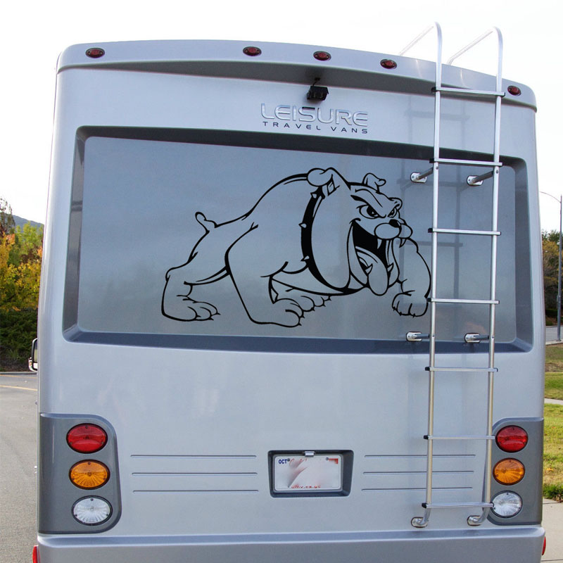 Bulldog Dog Graphics Camper Van Graphics Motor Home Truck Vinyl Graphics Kit Decals Car Stickers for rear or bonnet 723mmx440mm eric tyson home buying kit for dummies