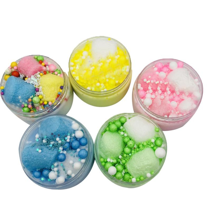 2018 Slow Rising Squishy Beautiful Color Mixing Cloud Slime Squishy Putty Scented Stress Kids Clay Toy Stress Relief Toy Funny