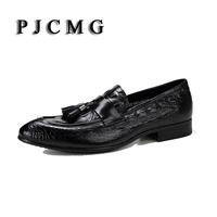 2016 High Quality Crocodile Black Red Tan Summer Loafers Dress Genuine Leather Casual Wedding Shoes With