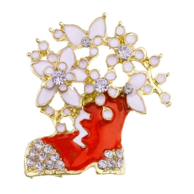 fa355d27de5 Winter Collection Christmas Brooch Pin Snowman Santa Claus Boot Garland  Fashion Jewelry Gift Christmas Friend Decoration