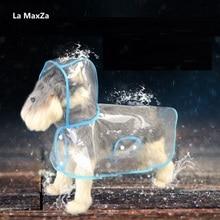 La MaxZa модный прозрачный дождевик для собак, водонепроницаемые куртки для собак, дождевик для собак, новинка, летние товары для домашних животных