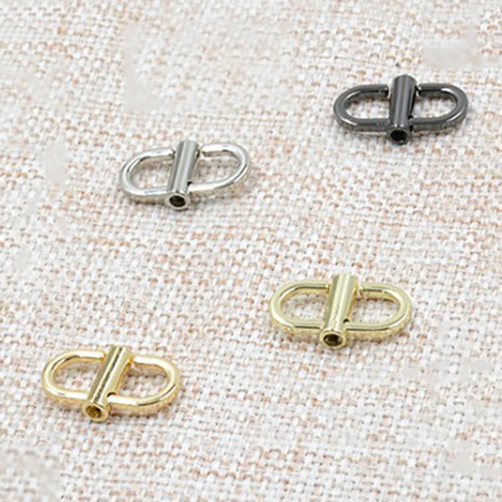 أسود/الذهب/الفضة قابل للتعديل طول سلسلة معدنية حزام مشبك حقيبة الملحقات استبدال