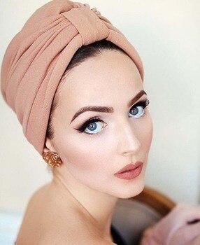 herren klassischer Stil von 2019 exquisite handwerkskunst Neue frauen luxus bogen Turban Hut Stilvolle Chemo kappe abnehmbare bowknot