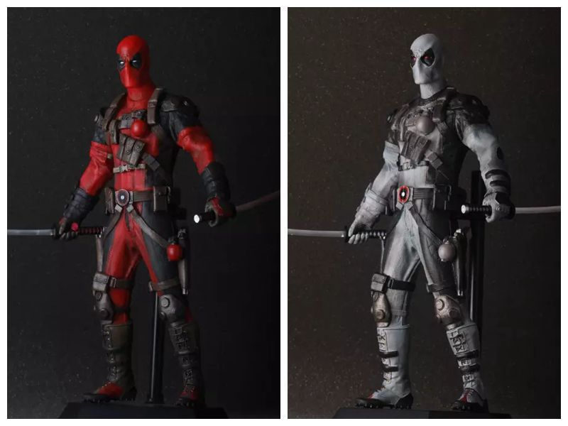 Crazy Toys Deadpool PVC Action Figure Collectible Model Toy 12 30cm Red / Sliver HRFG516 deadpool pvc action figure nendoroid series collectible model toy 10cm deadpool toys for anime lovers christmas gift n044