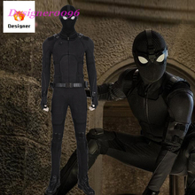 Spider-Man: Far From Home Spider-Man Noir Cosplay Costume 2019 new Marvel Movie New Style Peter Parker black Stalker 1:1 set