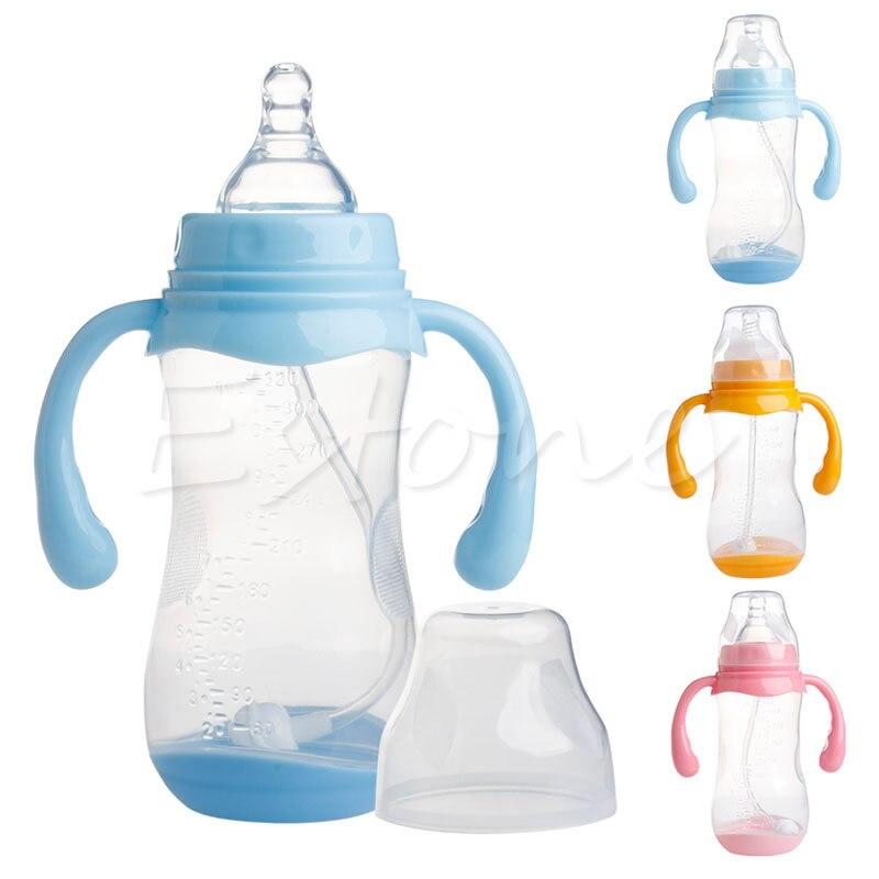 Livraison gratuite 1Pc 320ML large cou Anti-colique bébé infantile lait alimentation mamelon biberon nouveau