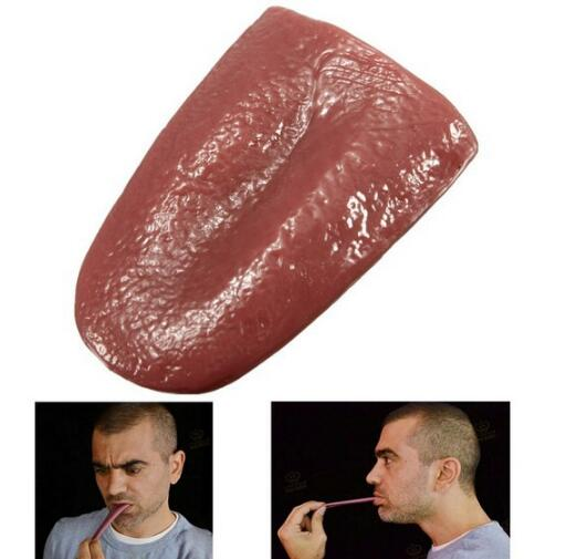 Tongue Realistic Tongue Gross Jokes Prank Magic Tricks Halloween Horrific Prop Magician