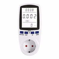 Backlight EU UK US Plug Smart Socket LCD Display Wall Socket Smart Plug Electric Monitor Analyzer
