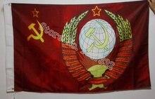 Русский античный флаг СССР сделать старый ретро 3x5 футов 150x90
