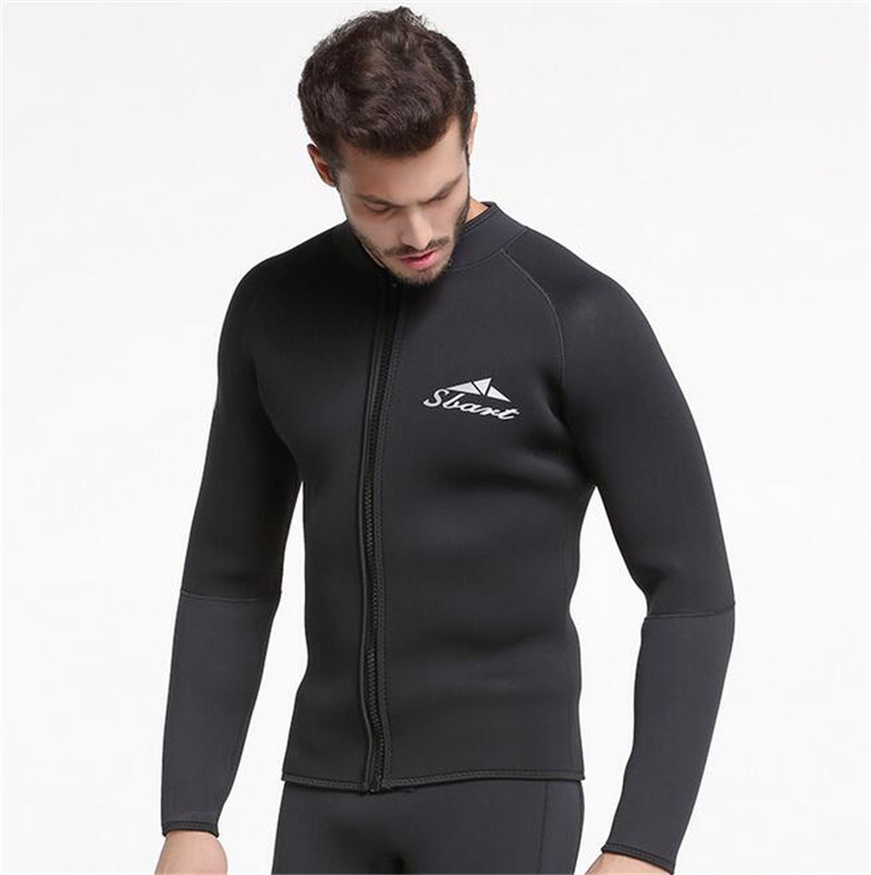 SBART 3MM Neoprene Long Sleeved Jumpsuit For Men Wetsuit Scuba Dive Jacket Wet Suit Top Winter Swim Warm Surf in Wetsuit from Sports Entertainment