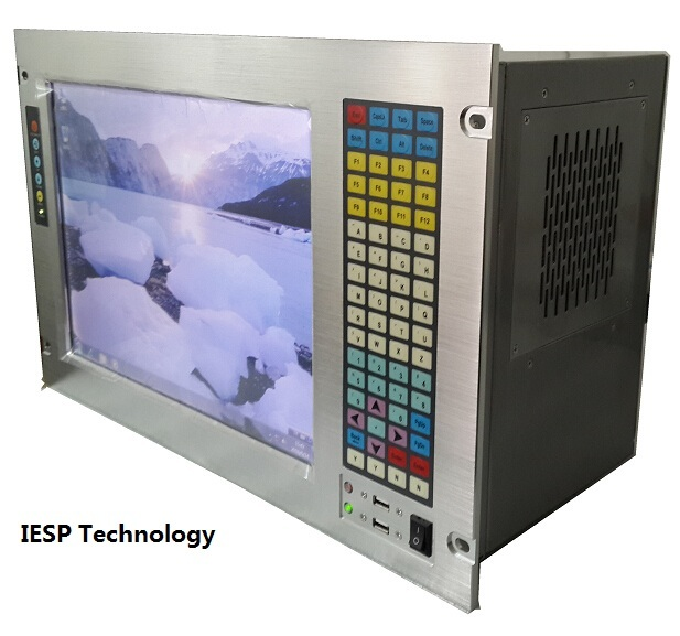 """19"""" 7U Rack Mount Industrial Workstation, 15"""" LCD, With touchscreen, G41 Chipset, E5300 CPU, 4GB RAM, 500GB HDD, 4*PCI, 4*ISA"""