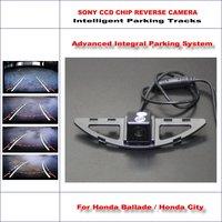 Intelligentized Reversing Camera For Honda Ballade / Honda City Rear View Back Up / 580 TV Lines Dynamic Guidance Tracks