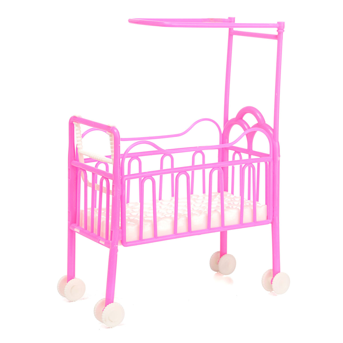 Baby bed accessories - Dolls Baby Bed For Princess Dollhouse Plastic Mini Cute Bed Doll House Furniture Toy Fantasy Sweet Dream Bedroom Accessories