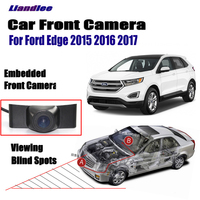 Liandlee Camera Car Front View Camera For Ford Edge 2015 2016 2017 Logo Grill Embedded 4.3 LCD Monitor Screen Cigarette Lighter