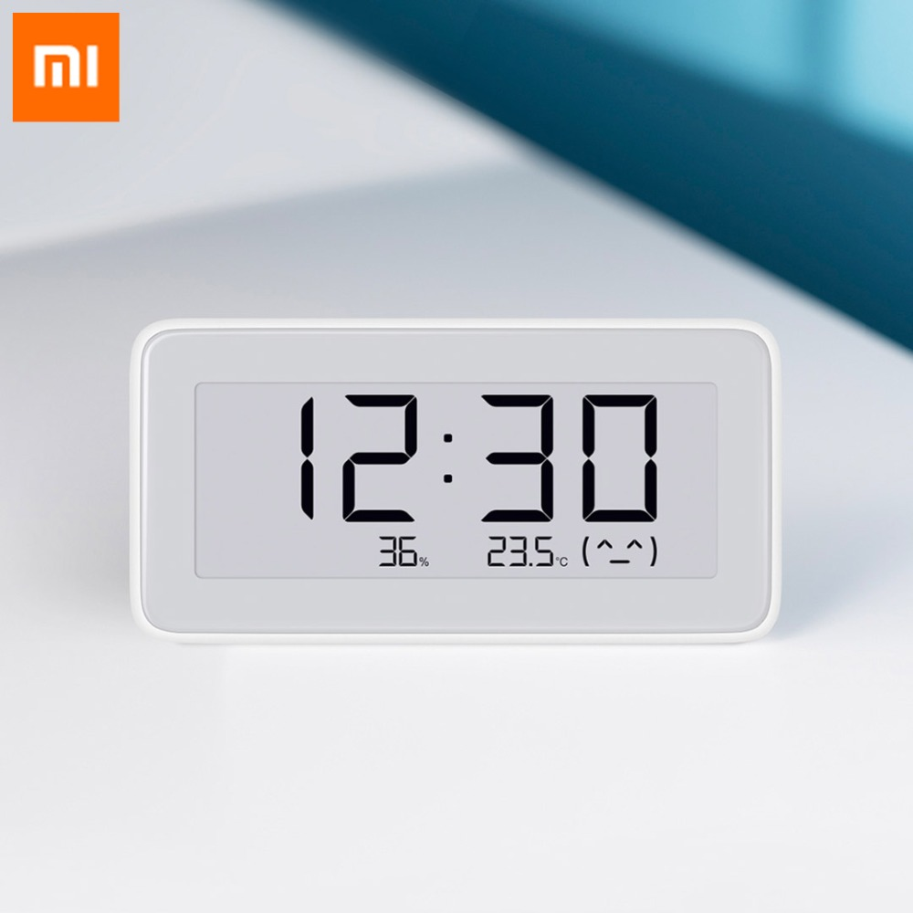 Original Xiaomi Mijia Smart Temperature Humidity Monitoring Bluetooth Digital Clock 3.7 Inch E-ink LCD Screen Measuring Tools