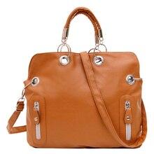 VSEN Heißer Frauen Schultasche Schultertasche Cross Body Messenger Aktentasche Handtasche Main Farbe: Braun