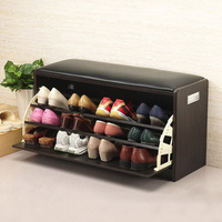 Size L Free of installation shoe racks hallway shoes changing bench shoe hanger clamshell tip Shoe Ark excluding freight