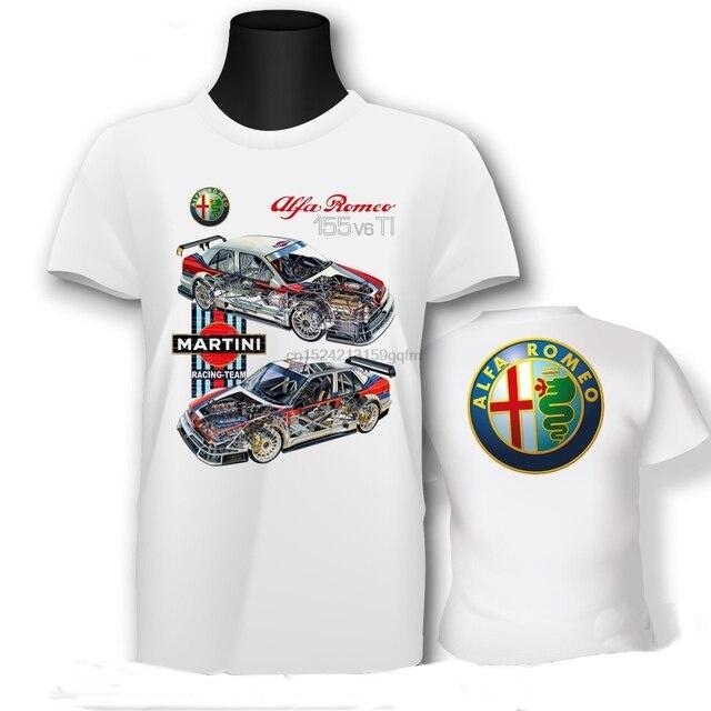 edf0b2565fdb Men Casual T Shirts ALFA ROMEO Dtm Martini Racing Team Man Fashion Cotton  Tops White Size S-3XL