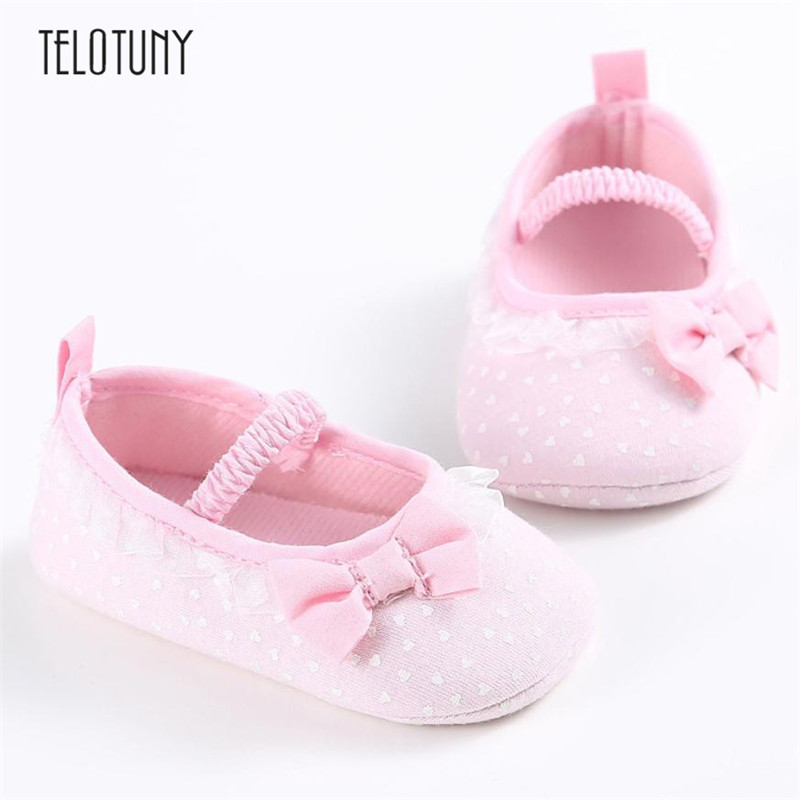 TELOTUNY Baby Girl Bow-knot Canvas Shoes Sneaker Anti-slip Soft Sole Toddler Shoes Cloth comfortable Anti-slip Crib ShoesS3FEB23