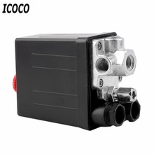 High Quality 1 Pcs Heavy Duty Air Compressor Pressure Switch Control Valve 90 PSI -120 PSI DropShipping цена 2017