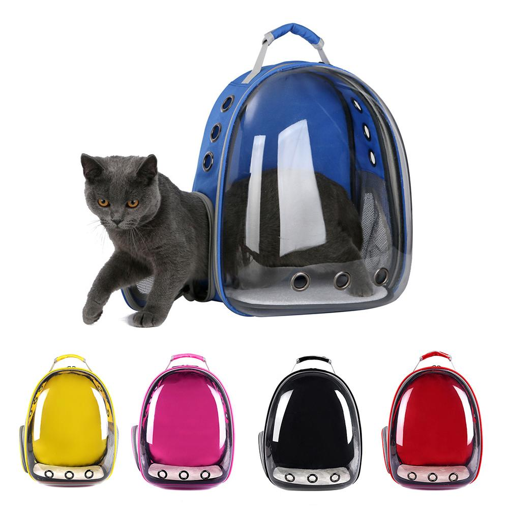 Portable Transparent Capsule Pet Cat Dog Kitty Puppy Backpack Carrier Outdoor Travel Bag Cat Carriers New