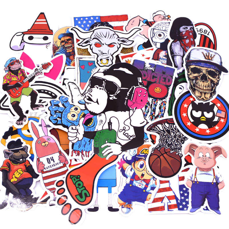 50 sztuk/paczka F2 Anime naklejki dla dzieci zabawki fajne naklejki dla majsterkowiczów dzieci naklejki bagażu Laptop Skateboard Moto samochodów Kpop naklejki