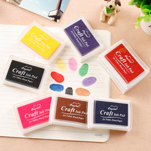 1pc Plastic Ink Pad Oil Based Crystal Craft Ink Pad Gradient Colors DIY Scrapbook for Fabric Wood Paper Handprint Stamp Inkpad(China)