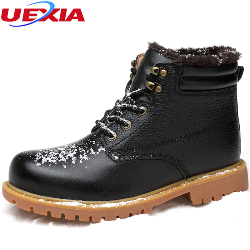 New Unisex Winter Ankle Men Boots Lovers Shoes Men Large Size 36-48 Couple Round Toe Boots Cotton-Padded Footwear Zapatos Hombre