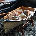 1 шт. 120 см Средиземноморский. Ver Ручной Работы деревянная рамка лодки Коктейльный столик журнальный стол для украшения в коробке через EMS