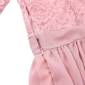 Image 5 - Vestidos da dama de honra, elegante, feminino, meia mangas, bordado, renda, chiffon, longo, para festa de casamento, baile, dama de honra, formal