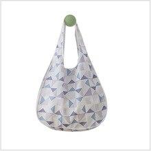 купить Fashion printing Women Nylon Foldable Zipper Waterproof Eco Shopping Bag Tote Pouch Portable Reusable Grocery Storage Bag Easy t дешево