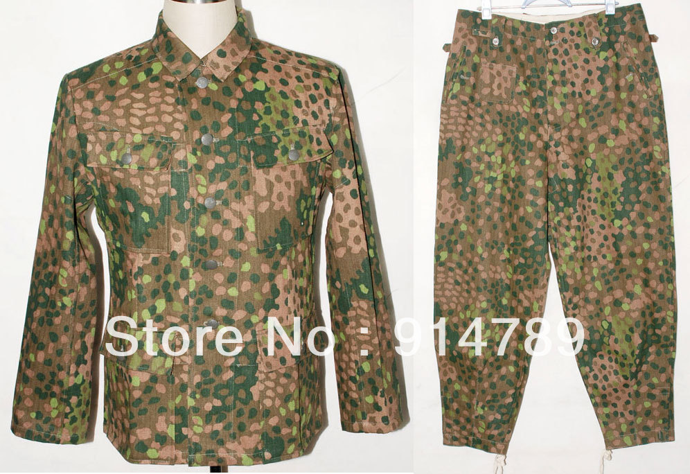 GERMAN ELITE LINEN HBT DOT 44 M43 FIELD UNIFORM TUNIC & TROUSERS IN SIZES -31055